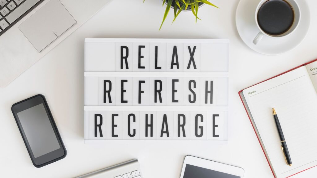 setting intentions for productivity and rest
